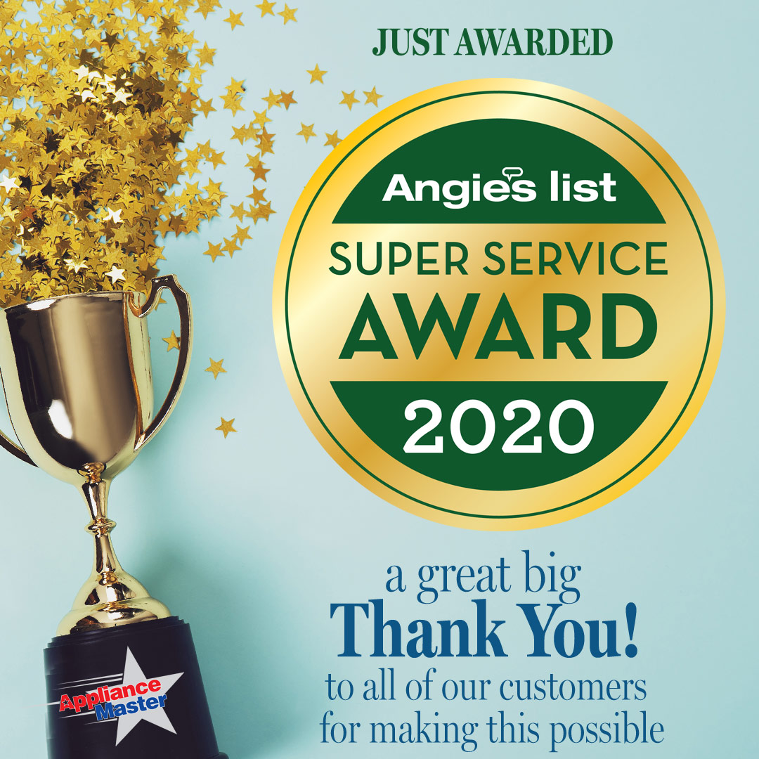 Appliance Master Angie's List Super Service Award Image
